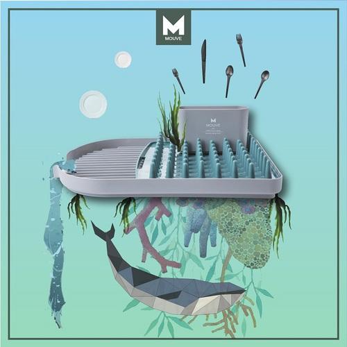 MOUVE|藍鯨瀝水盤組