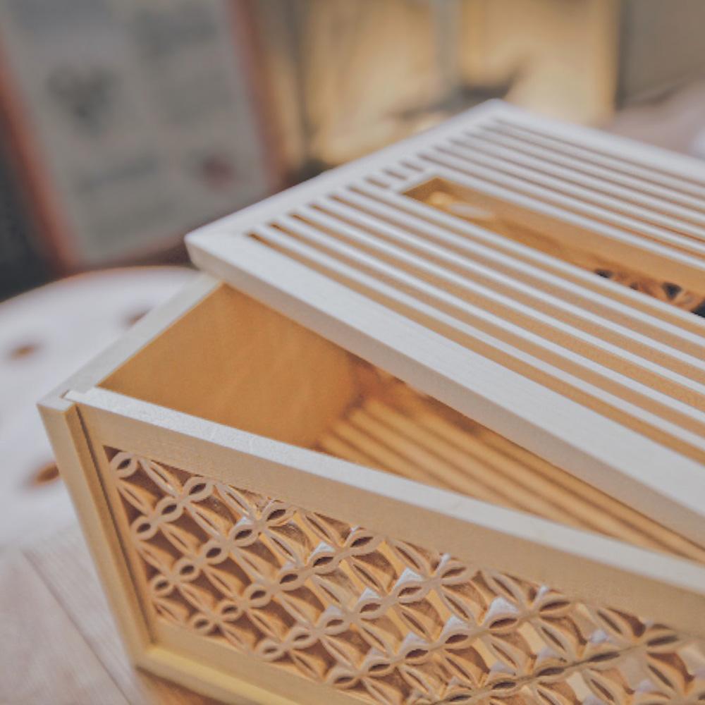 Hands|木質花窗生活系列 - 七寶花窗衛生紙盒