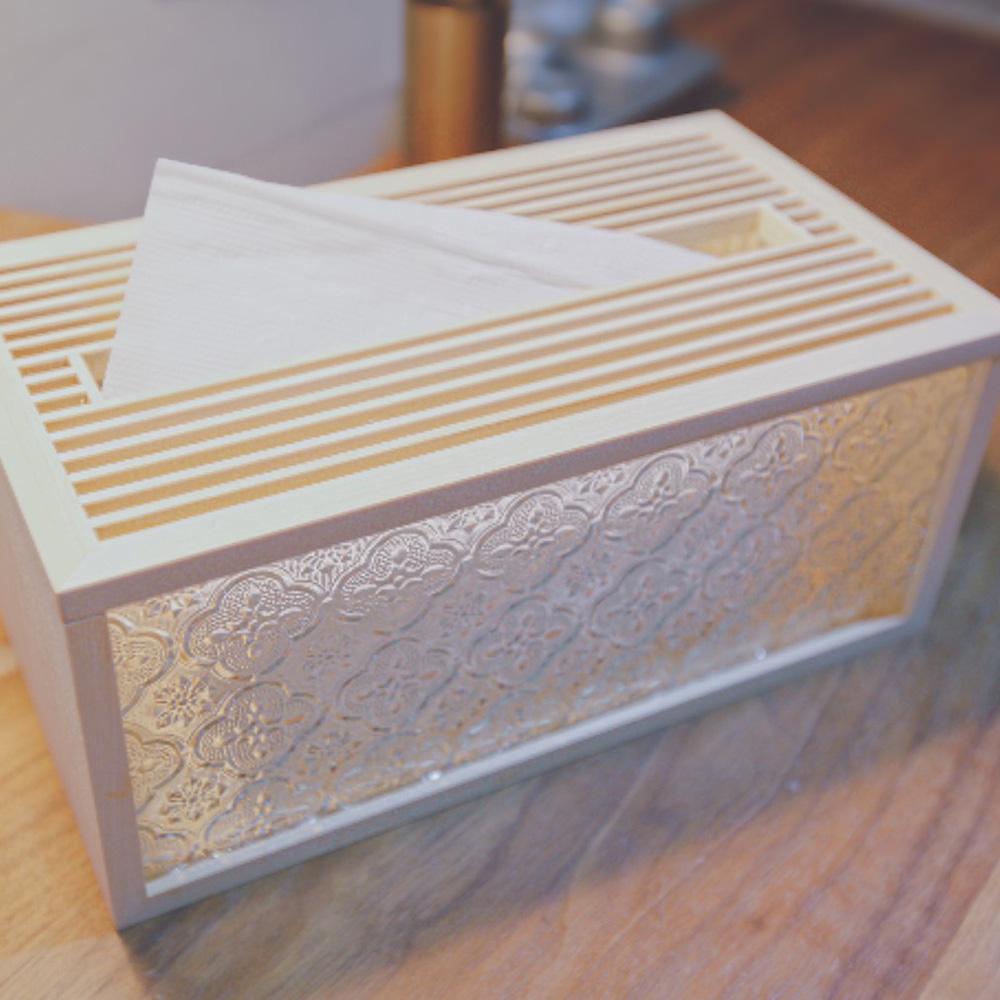 Hands|玻璃花窗生活系列 - 海棠花衛生紙盒