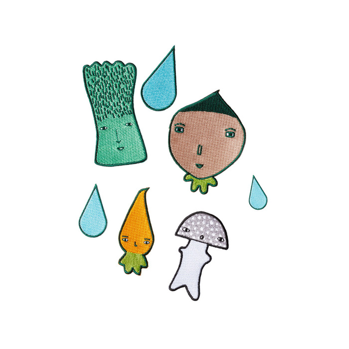 Donna Wilson|繡布貼-蔬菜家族