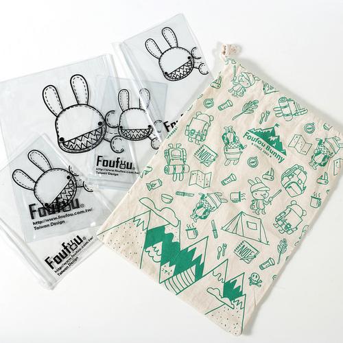 Foufou|Fou小物收納袋組V.5-束口袋(綠)