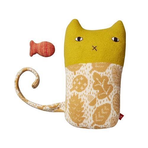 Donna Wilson|手工針織羊毛娃-小貓Fee和魚