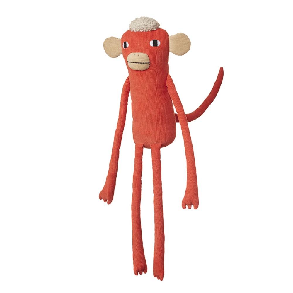 Donna Wilson 手工純棉娃-愛管閒事的紅猴子