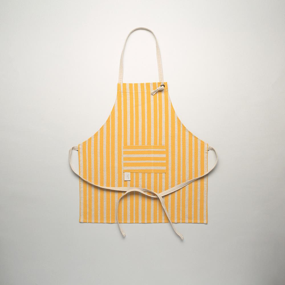 減簡手制JainJain 手印棉麻圍裙/小朋友版 黃色
