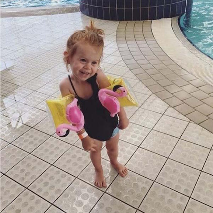 SHARKTANK-SUNNYLIFE|Flamingo Inflatable Arm Band 紅鶴造型手臂泳圈