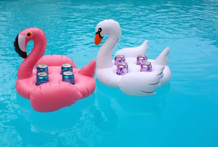 SHARKTANK-SUNNYLIFE|Swan Inflatable Drink Holder 天鵝造型充氣飲料架