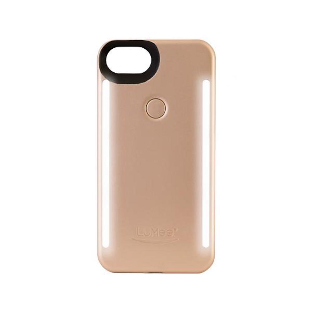 LUMEE Duo|雙面 LED 補光手機殼 iPhone 8, 7, 6s, 6 (香檳金)