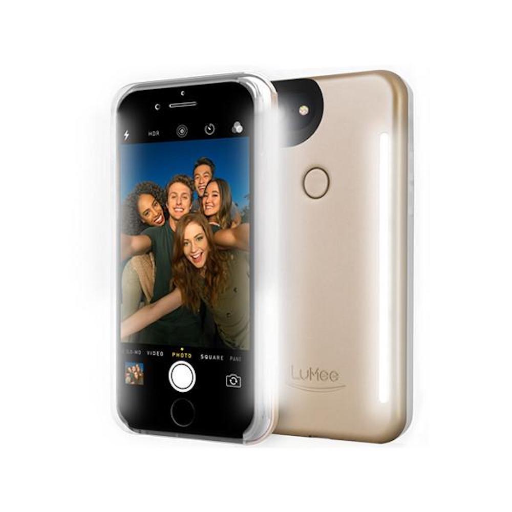 LUMEE Duo 雙面 LED 補光手機殼 iPhone 8 Plus, 7 Plus, 6s Plus, 6 Plus (香檳金)