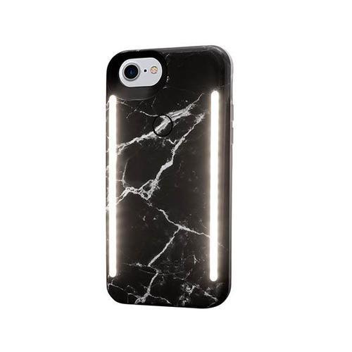 LUMEE Duo|雙面 LED 補光手機殼 iPhone 8, 7, 6s, 6 (大理石黑)
