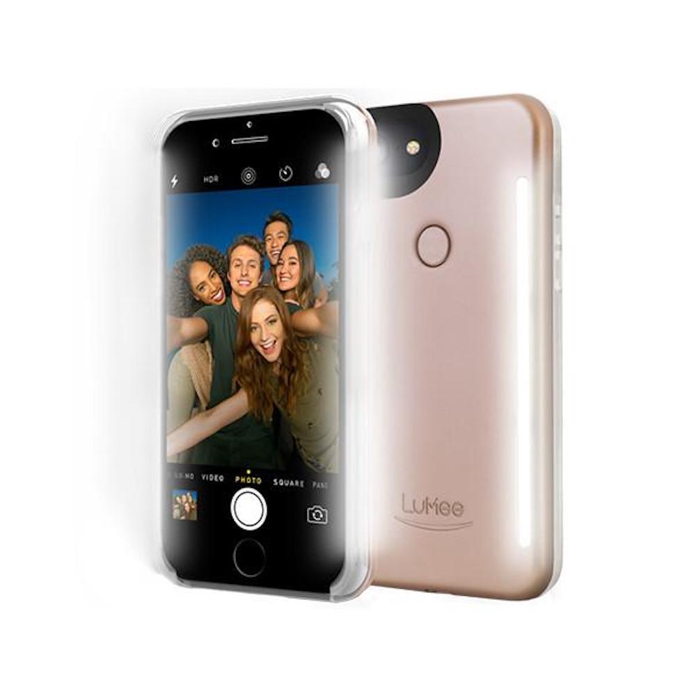 LUMEE Duo 雙面 LED 補光手機殼 iPhone 8, 7, 6s, 6 (玫瑰粉)