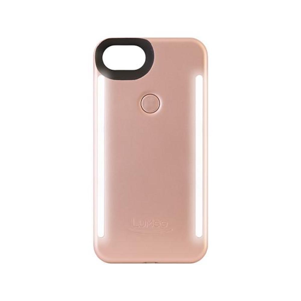 LUMEE Duo|雙面 LED 補光手機殼 iPhone 8, 7, 6s, 6 (玫瑰粉)
