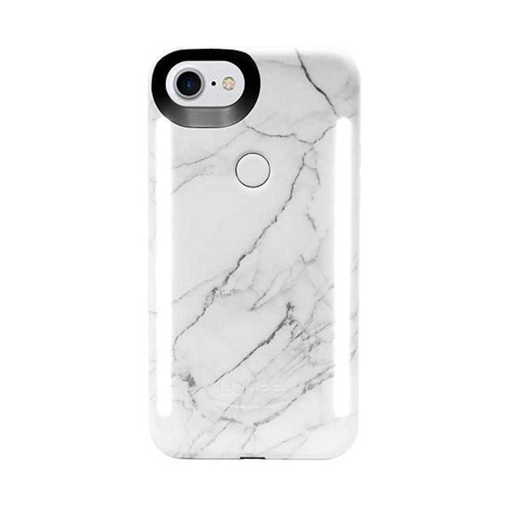 LUMEE Duo 雙面 LED 補光手機殼 iPhone 8, 7, 6s, 6 (大理石白)