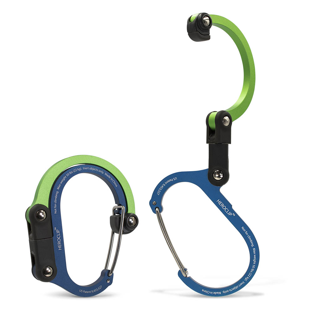 HEROCLIP 美國多功能扣環掛鉤 - 藍綠色 1入