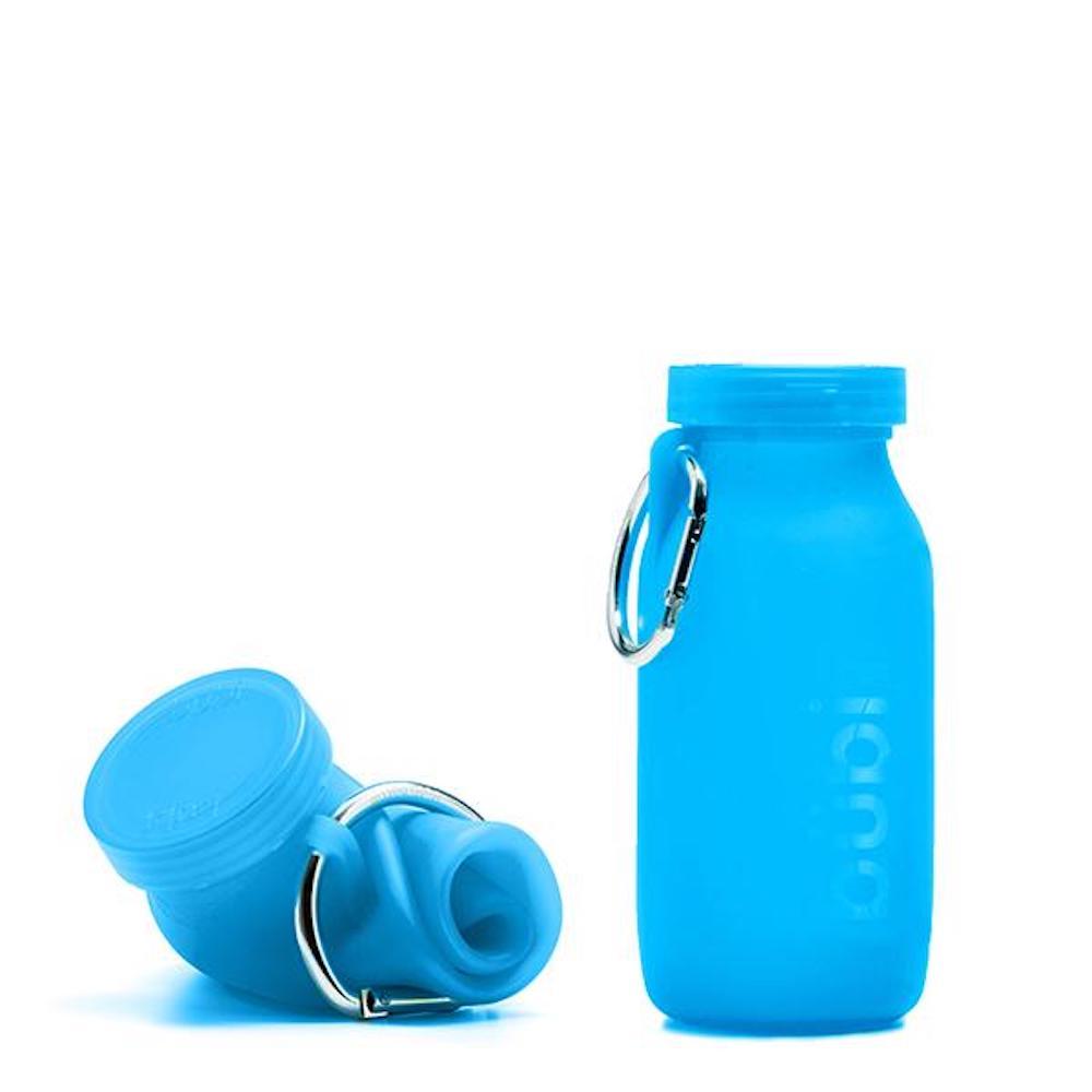 BUBI BOTTLE|矽膠摺疊多功能水壺 450ml (藍色)