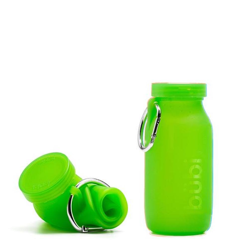 BUBI BOTTLE|矽膠摺疊多功能水壺 450ml (淺綠)