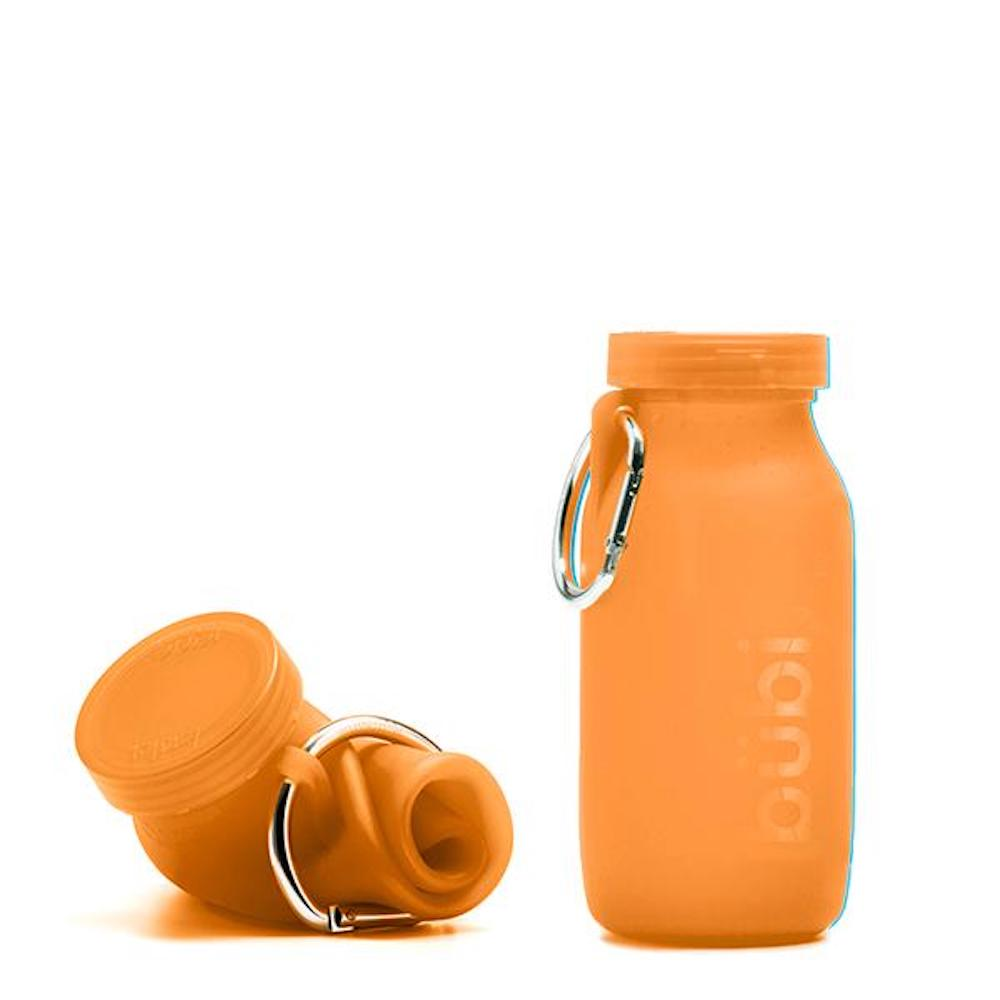 BUBI BOTTLE|矽膠摺疊多功能水壺 450ml (橘色)