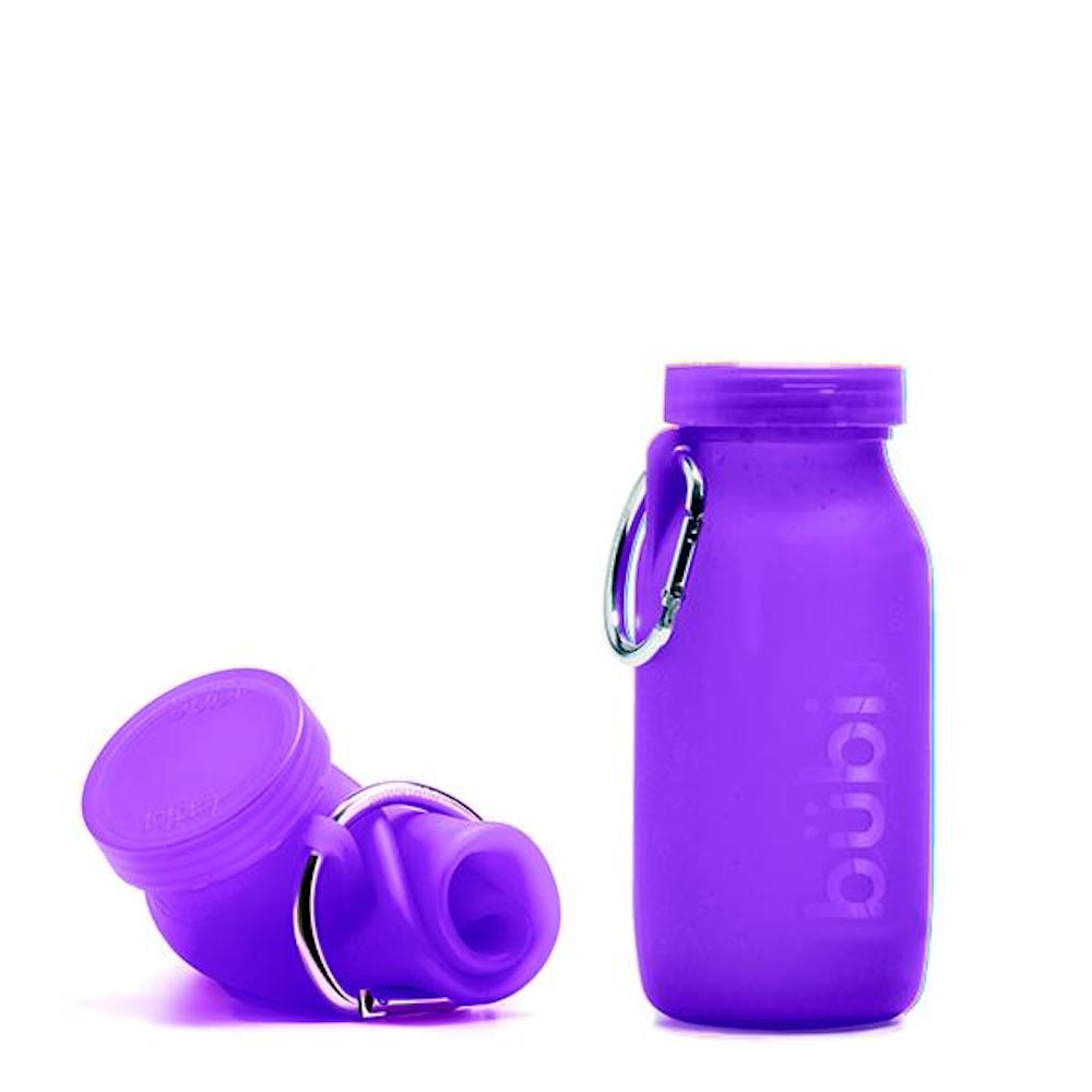BUBI BOTTLE|矽膠摺疊多功能水壺 450ml (紫色)