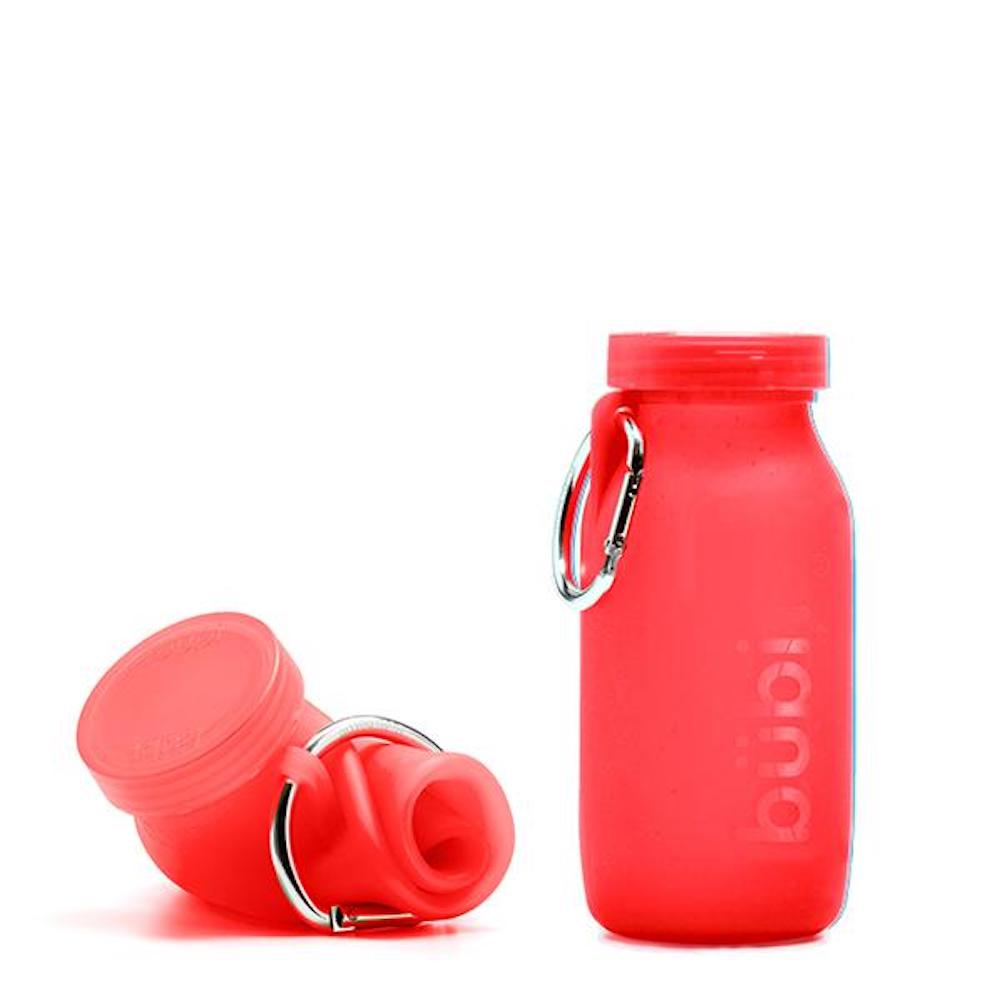 BUBI BOTTLE|矽膠摺疊多功能水壺 450ml (紅色)