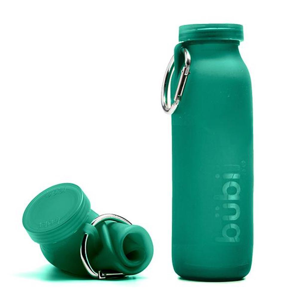 BUBI BOTTLE|矽膠摺疊多功能水壺 650ml (深綠)