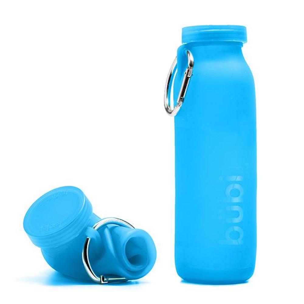 BUBI BOTTLE 矽膠摺疊多功能水壺 650ml (藍)