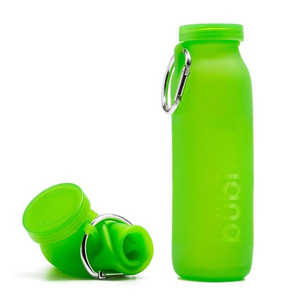 BUBI BOTTLE|矽膠摺疊多功能水壺 650ml (淺綠)