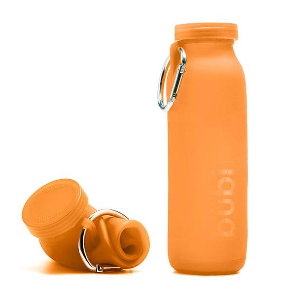 BUBI BOTTLE 矽膠摺疊多功能水壺 650ml (橘色)