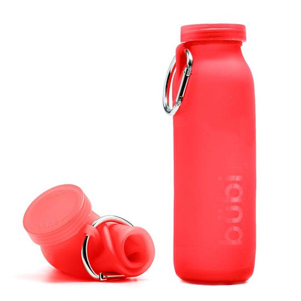 BUBI BOTTLE|矽膠摺疊多功能水壺 650ml (紅色)
