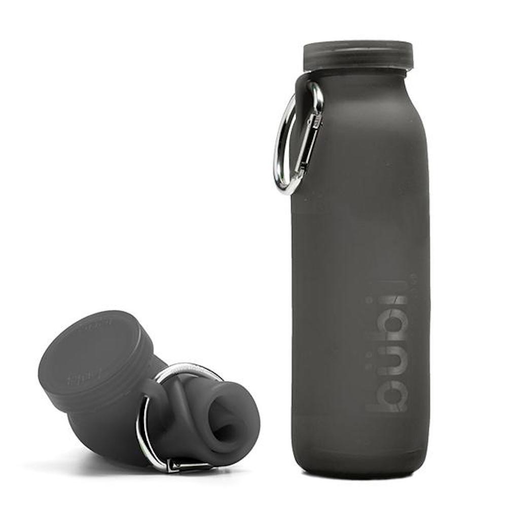 BUBI BOTTLE|矽膠摺疊多功能水壺 650ml (黑色)