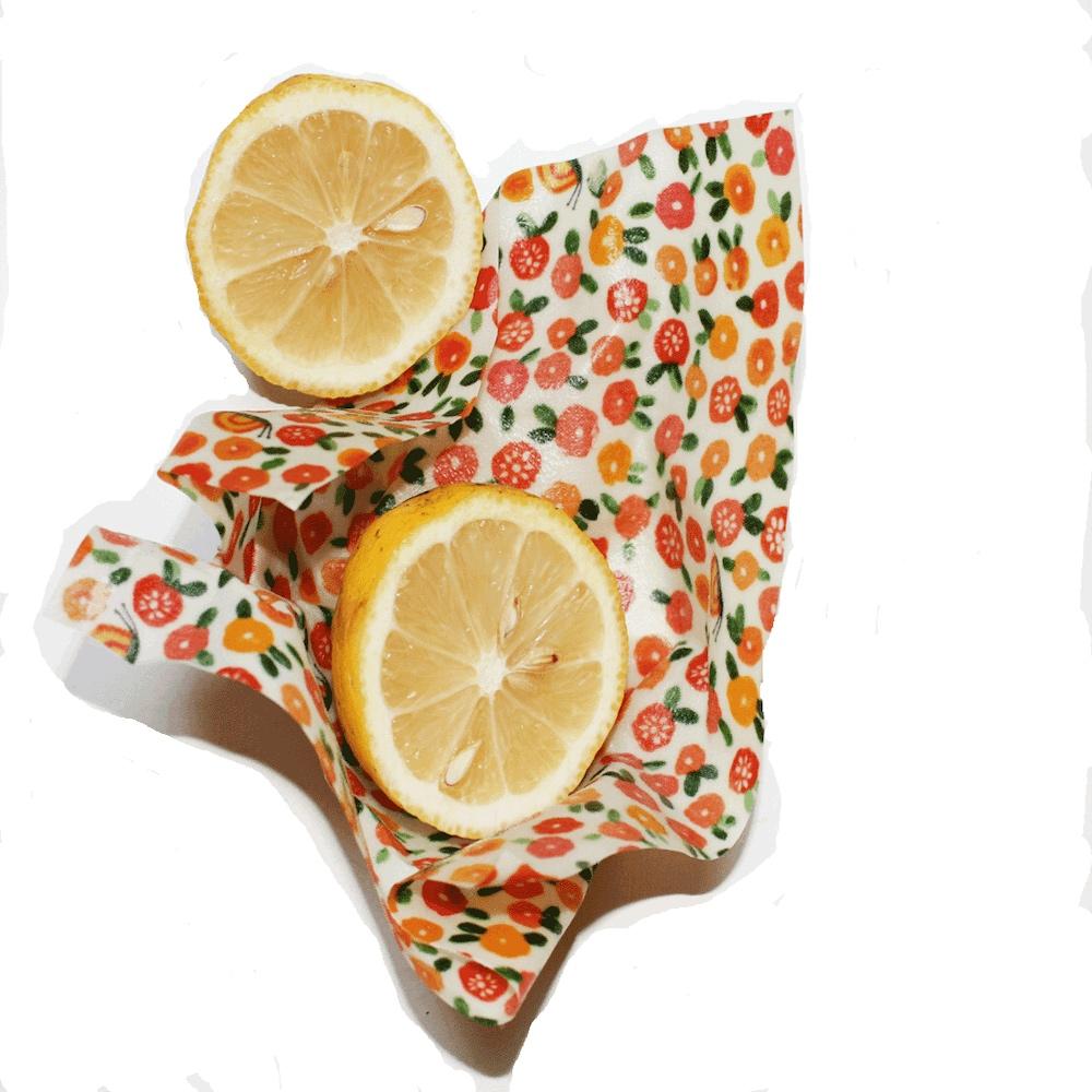 ECO FOOD WRAP|蜂蠟環保保鮮布 - 吃貨輕食袋 - 橘花花