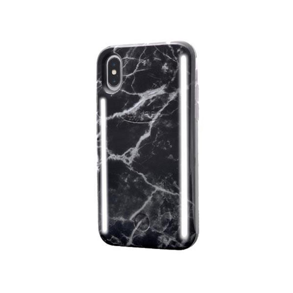 LUMEE Duo|雙面 LED 補光手機殼 iPhone X (大理石黑)