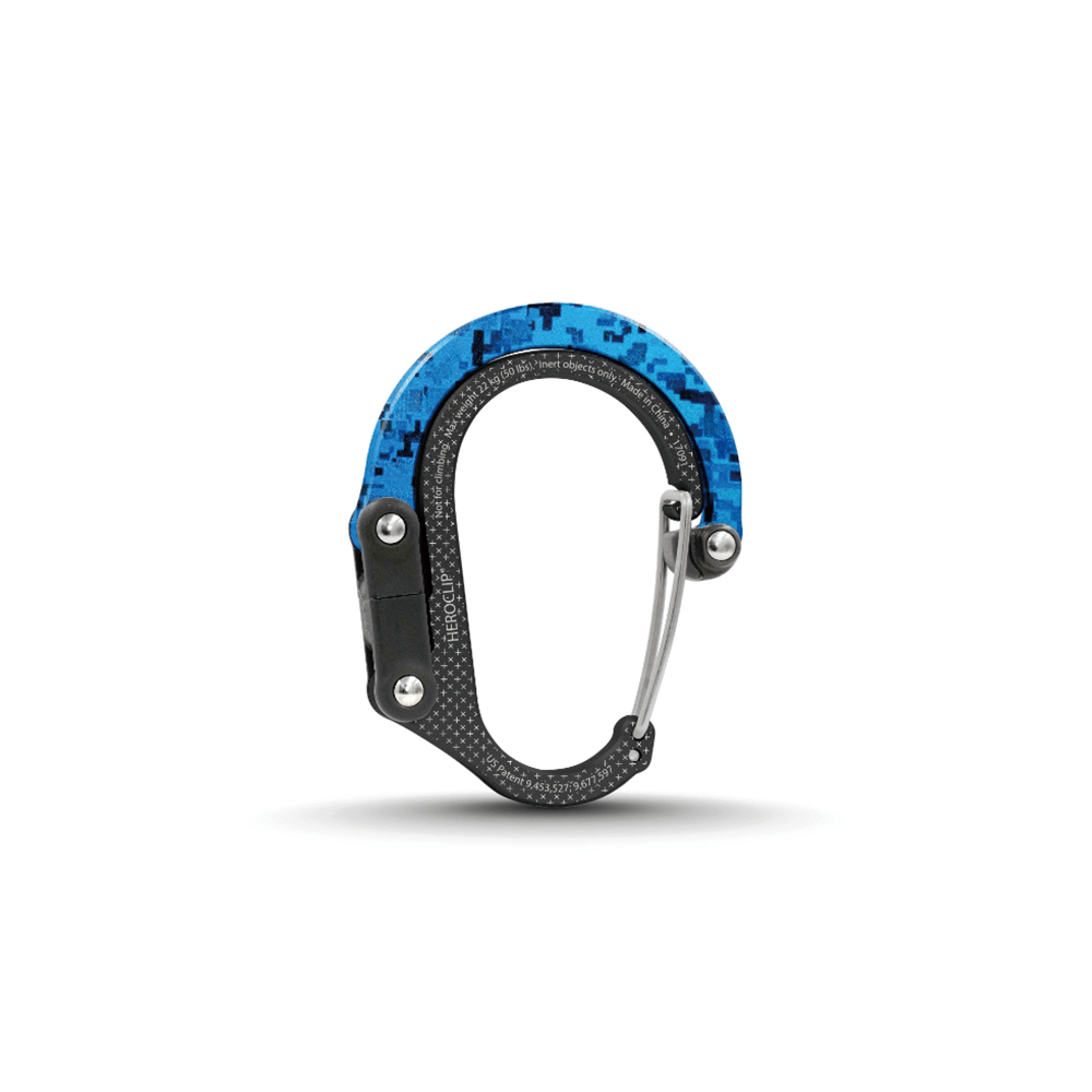 HEROCLIP|美國多功能扣環掛鉤 - 藍綠迷彩 1入