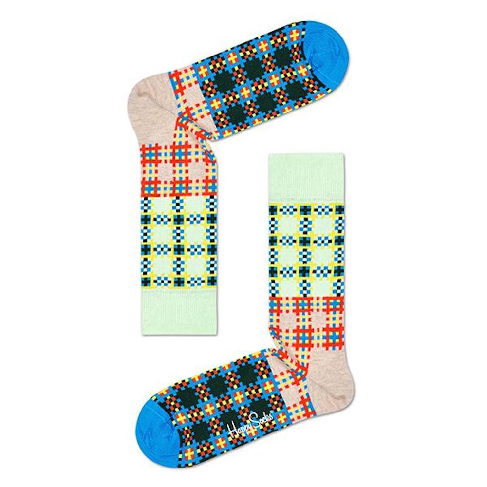 HAPPY SOCKS|三色方格花紋襪 (36-40)