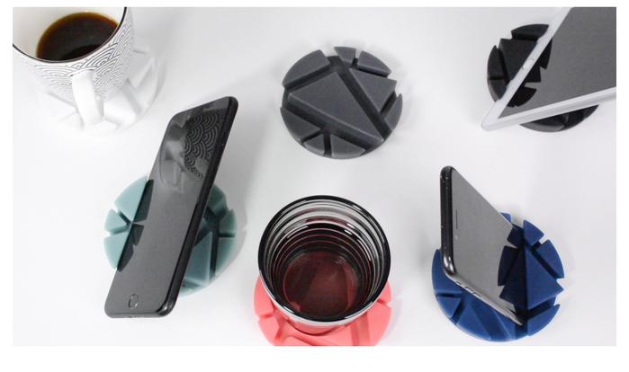 【集購】德國PROP Coaster | 極簡時尚 手機iPad平板支架桌面支撐架 多功能墊 (6色)