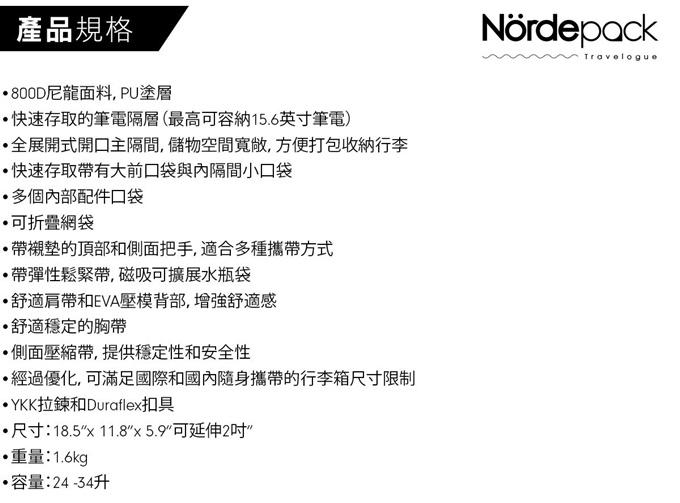 Nordepack| 都市旅人系列 超過30種強大功能細節 日常通勤 出差旅行 多功能萬用包