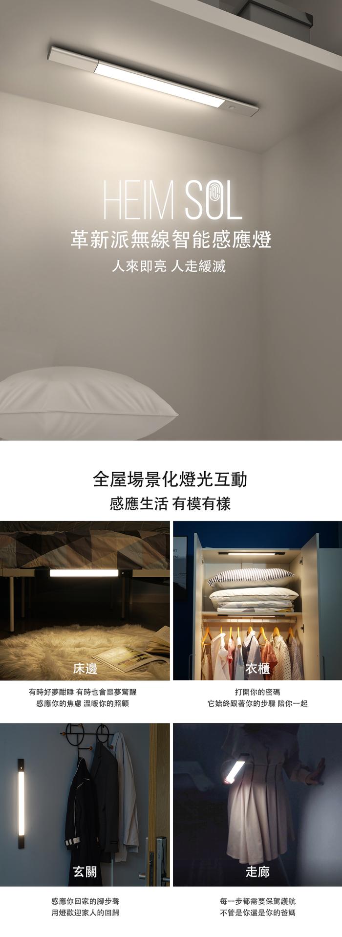 【集購】Home Sol |革新派無限智能感應LED燈 超輕超薄 含磁鐵吸附 (2色)