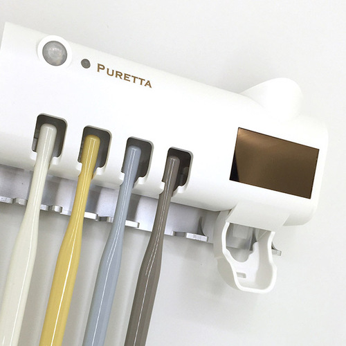美國 PURETTA 360°全方位多功能紫外線滅菌牙刷架 - 太空黑