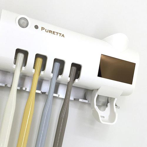美國 PURETTA|360°全方位多功能紫外線滅菌牙刷架 - 宇宙白