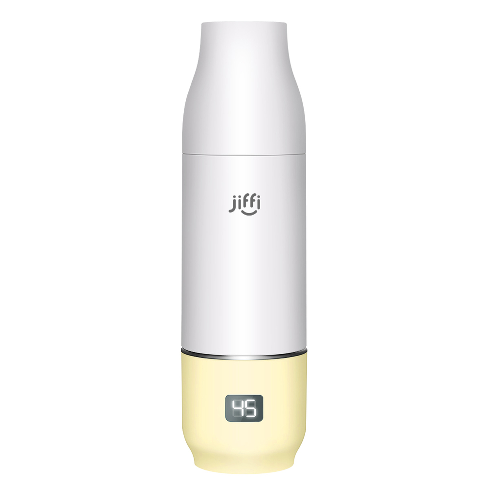 【預購】美國 jiffi|智慧恆溫奶瓶組(黃色)
