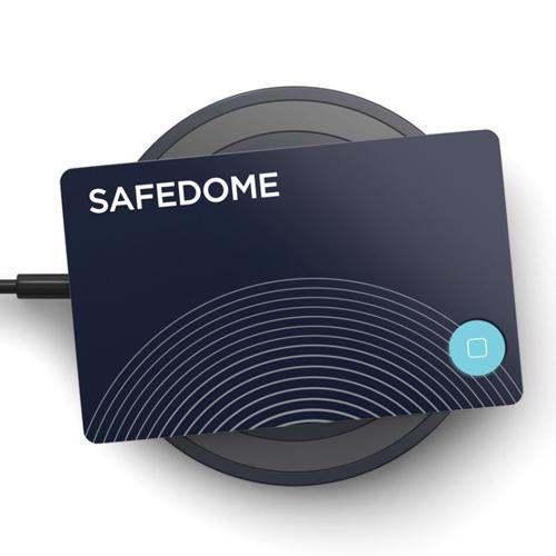 澳洲 Safedome|世界最薄 智慧藍牙追蹤卡(含QI無線充電座)