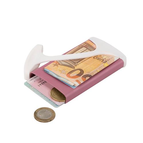muemma|德國HUG CASE極簡時尚超薄短款多功能錢夾卡夾(Pink)