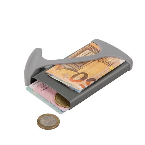 muemma|德國HUG CASE極簡時尚超薄短款多功能錢夾卡夾(Grey)