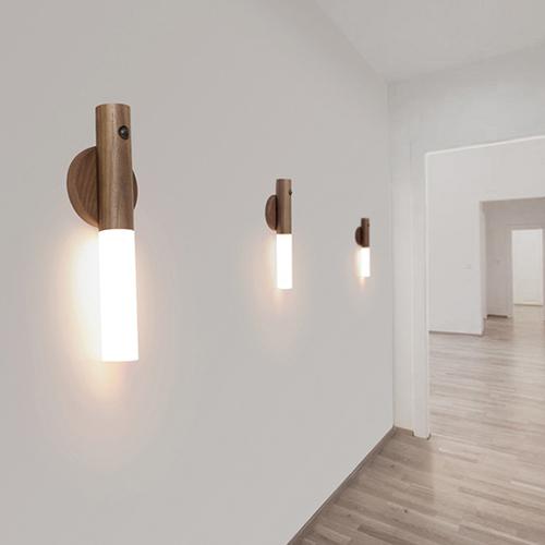 【集購】HOIZ SOL|天然原木多功能感應燈 - 兩色任選 (含無痕磁吸底座)