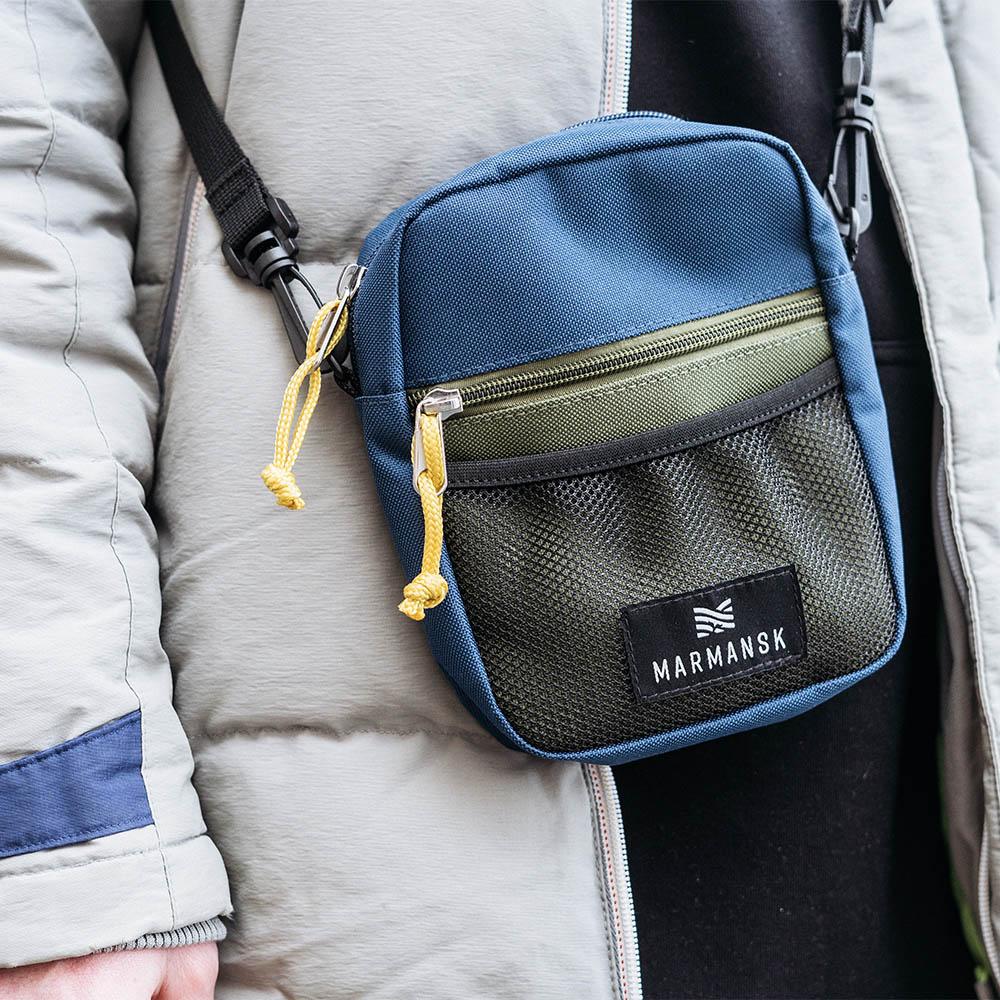 Marmansk|OBLAST 輕鬆出門隨身側背包 (Blue & Green)