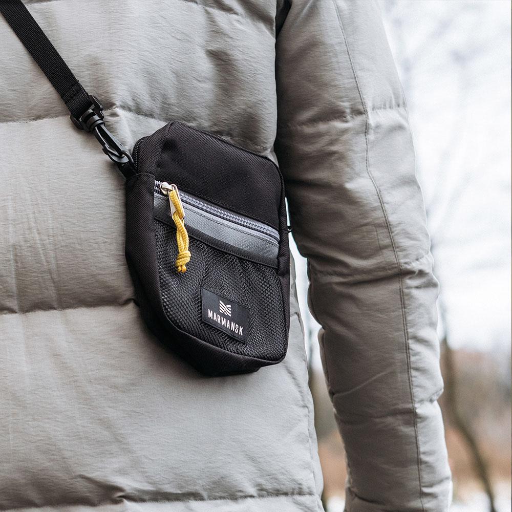 Marmansk OBLAST 輕鬆出門隨身側背包 (Black & Grey)