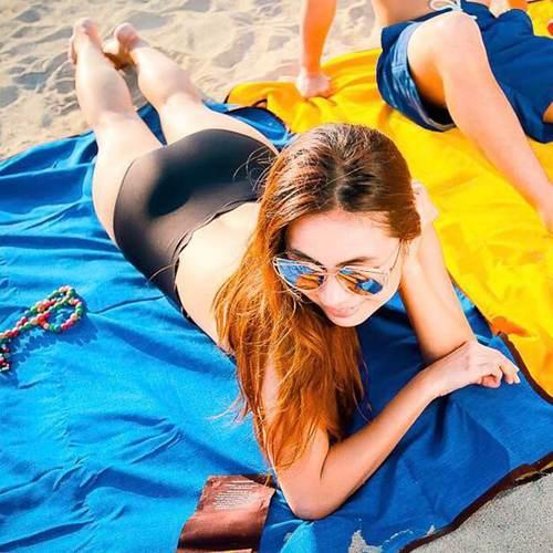 LAGU 沙灘專用快乾防沙毯 (軍藍)