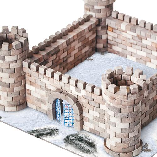 WISE ELK|天然陶瓷磚建築套裝 - 鷹巢城堡 870片
