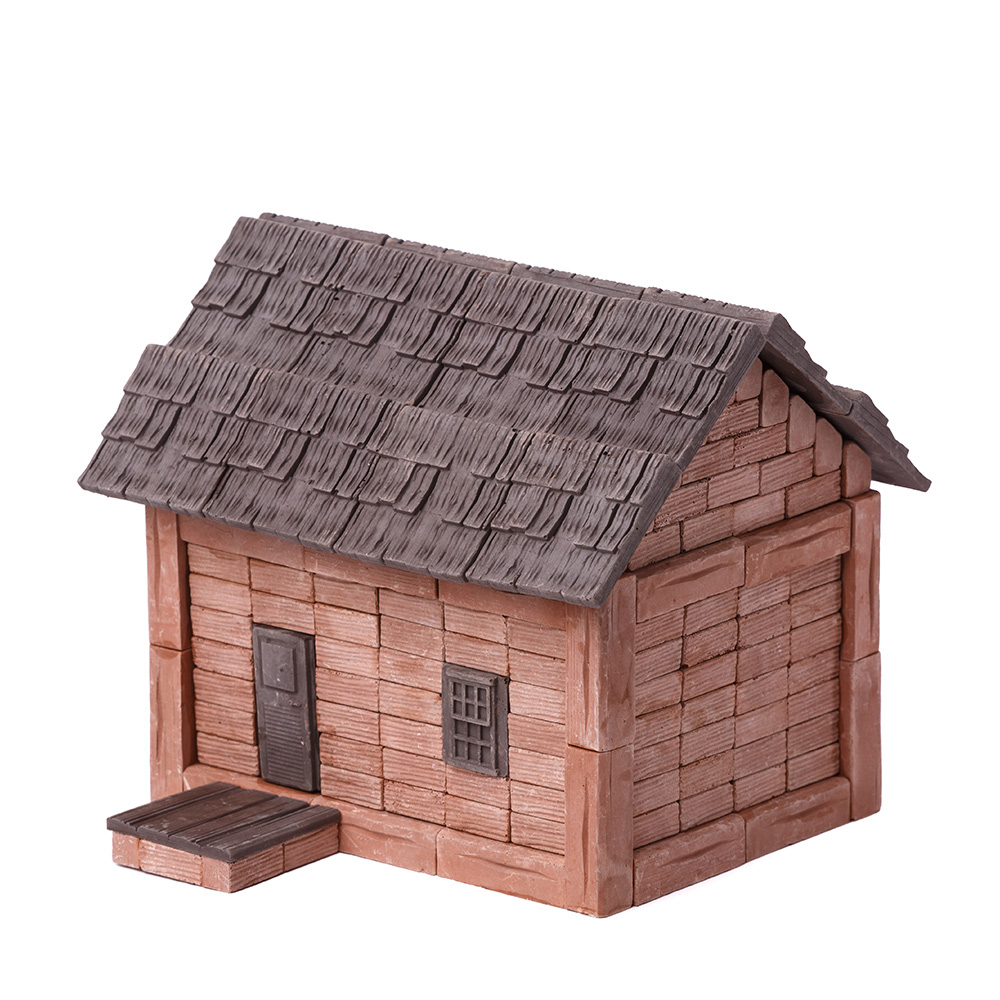 WISE ELK 天然陶瓷磚建築套裝 - 磚瓦小屋 280片