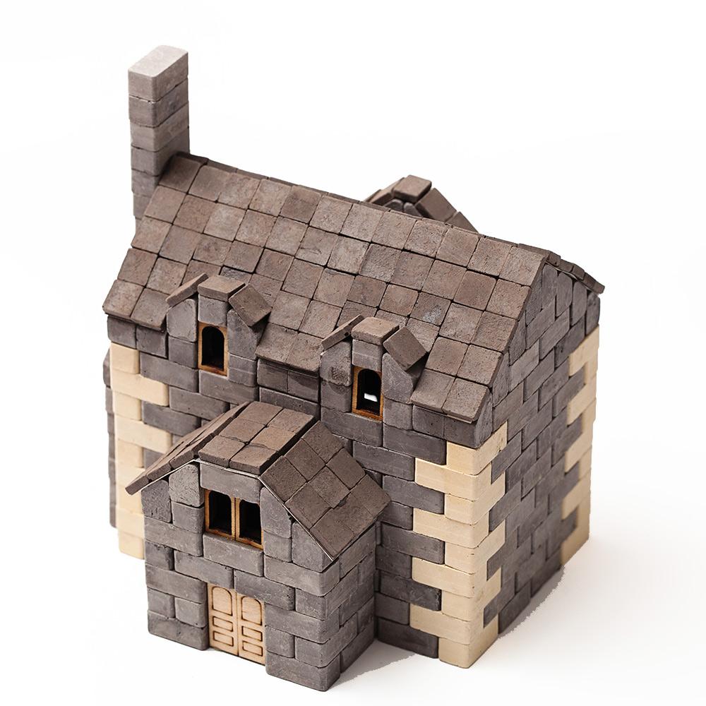 WISE ELK 天然陶瓷磚建築套裝 - 英式小屋 500片