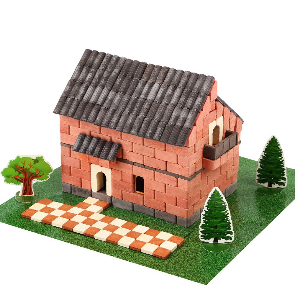 WISE ELK|天然陶瓷磚建築套裝 - 愛爾蘭小屋 450片