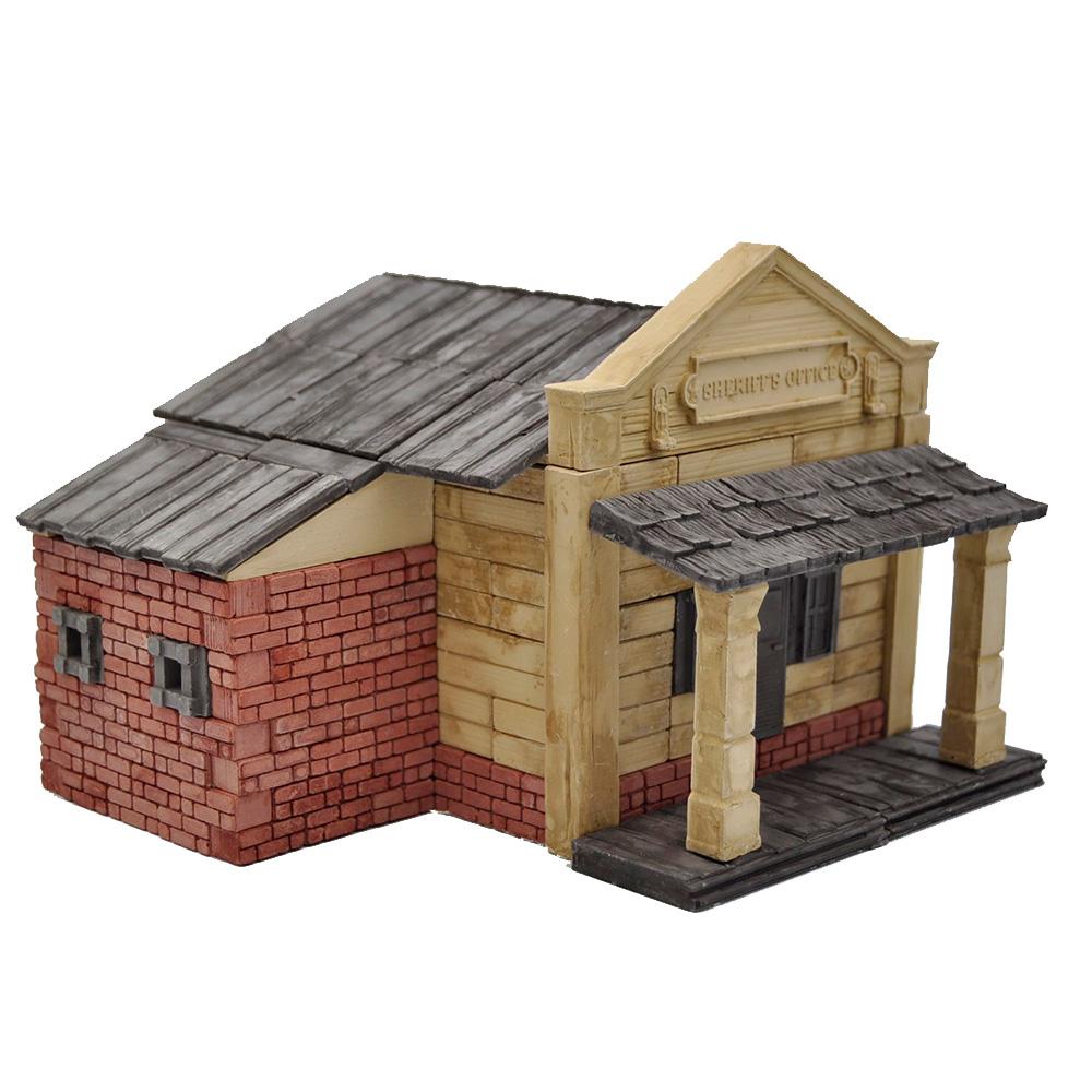 WISE ELK|天然陶瓷磚建築套裝 - 西部警長辦公室 450片